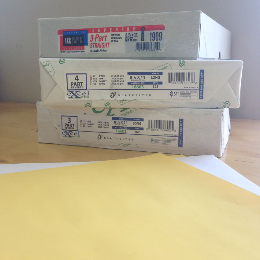 Carbonless Paper Invoices Carbonless Ncr Paper