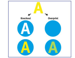 knockout and overprint example